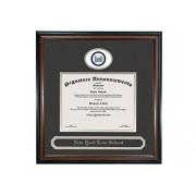 Signature Announcements New-York-Law-School Undergraduate, Marco de Diploma de graduación de Papel de Aluminio esculpido y Nombre de graduación, 20 x 20 Pulgadas, Caoba Mate