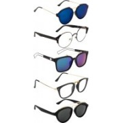 NuVew Oval, Rectangular, Round, Wayfarer Sunglasses(Blue, Clear, Grey, Green, Blue)