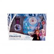 Disney Frozen II подаръчен комплект EDT 30 ml + лак за нокти 2 бр x 5 ml + пила за нокти + декоративни камъчета за нокти