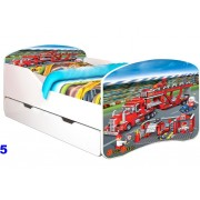 Patut Nobiko Rainbow Banbao Line 140 x 70 cu saltea si sertar Supercars 5