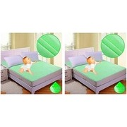 Fully WaterProof Mattress Protector Sheet With Elastic Strap For Double Bed Buy 1 Get 1 Free..