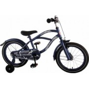Bicicleta Copii Volare Cruiser 16 inch cu Roti Ajutatoare Navy