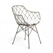 Kave Home Cadeira Endora , en Fibra natural - Cinzento