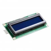 tiendatec PANTALLA LCD 1602A 16X2 BUS I2C/IIC AZUL PARA ARDUINO