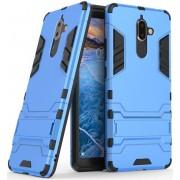 Nokia 7 Plus Hybride Kickstand Cover Blauw