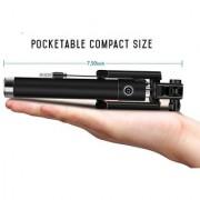 Deals e Unique Selfie Stick Mini With Aux Cable For iPhone Android Windows Phone Multicolor