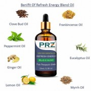 PRZ REFRESH ENERGY BELIEVE BLEND ESSENTIAL Oil (15 Ml) Pure Therapeutic Grade for Yoga & Balancing Energy
