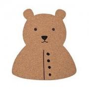 Bloomingville Tablica korkowa Mini Bloomingville niedźwiedź