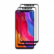 Set 2 folii protectie sticla securizata fullsize pentru Xiaomi Mi 8, negru