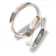 Luxusní Ocelové snubní prsteny 7087-5