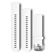 Garmin Quick Release 20 Silikon Silver - Klockarmband - Vit
