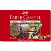 Creioane colorate 36 culori/set FABER-CASTELL, cutie metal, FC115846