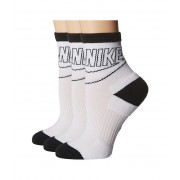 Nike Sportswear Striped Low Crew 3-Pair Socks WhiteBlackBlack