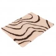 Manta para mascotas Vetbed® Isobed SL Wave, crema/marrón - 100 x 75 (L x An)