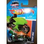HOT WHEELS 2011 HW DRAG RACERS 11 GREEN TRANSPARENT 4/10 FRIGHT BIKE 124/244