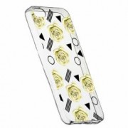 Husa Silicon Transparent Slim Yellow Rose 137 Apple iPhone 5 5S SE