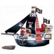 Set constructii Ecoiffier Vas de pirati 29 piese