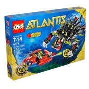 Lego Atlantis Series 8079 - Shadow Snapper with Combat Sub & Diver Minifigure