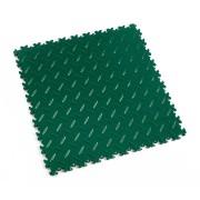 Zelená vinylová plastová zátěžová dlaždice Industry 2010 (diamant), Fortelock, 01 - délka 51 cm, šířka 51 cm a výška 0,7 cm