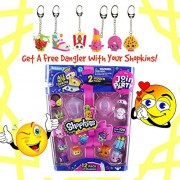 Shopkins Season 7 Join the Party 12 Pack & Shopkins Danglers Combo Pack (styles may vary on both packs) Package Inlcudes 1 Shopkins 12-Pack & 1 Shopkins Dangler