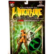 1998 - Top Cow / Moore Action Collectibles - #CM8011 - Medieval Witchblade Exclusive Action Figure - w/ Armor Weapons & Witchblade Stand - 5.5 Inches - Out of Production - New - Mint - Rare - Collectible