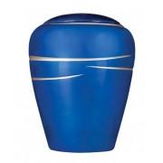 Ovale Resin Urn Shiny Blue (3.8 liter)