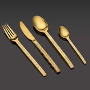 Комплект гравирани прибори за хранене HERDMAR SPIGA №7 старо злато - 24 части