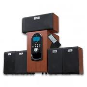 Boxe Genius SW-HF5.1 6000 Wood, 200W(Subwoofer 100W+5 sateliti*20W), Telecomanda, LCD Display, 6000W PMPO, 31730022101
