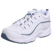 Easy Spirit Romy Zapatos de caminar para mujer, blanco, azul, (White/Medium Blue Leather), 7 W US