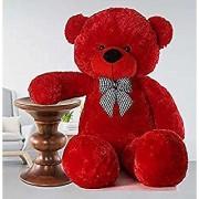 Teddy Bear Birthday Gift for Girlfriend/Wife Happy Birthday Teddy Soft Toy 5 feet Red 152 cm