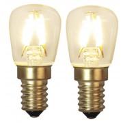 Star Trading Päronlampa LED 2p filament 1,3W 90lm 2100K E14
