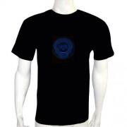 LED Electro Luminescence Witches Shaped Sound Activated Electro Luminescence Flashing Dancing T Shirt Black 12010