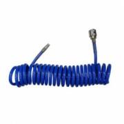 Furtun spiralat aer comprimat Strend Pro Airtool PU010 cuplaj rapid 1/4 10m d5x8mm