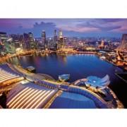 Puzzle orizontul orasului Singapore, 1000 piese Ravensburger