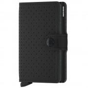 Secrid Porta Carte con Clip linea Perforated in Pelle Black con RFID