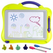 Philonext Magnetic Drawing Boards with 4 Colors Screens, 2 Pens, Erasable Doodle Sketch Magna Board for Writing, Drawing, Sketching, Kids Educational Learning,Toy Boys Girls