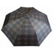 Deštník pánský vystřelovací károvaný hnědý 9143-1 9143-1