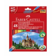 Creioane Colorate 48 culori + Ascutitoare Eco Faber-Castell