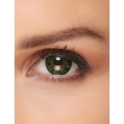 Vegaoo Fantasy-Kontaktlinsen Make-up-Zubehör grün-gelb