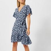 MICHAEL MICHAEL KORS Women's Mini Wrap Dress - True Navy - S - Blue