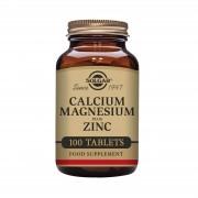 Solgar Calcium Magnesium plus Zinc 100 tablete