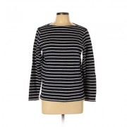 Undo Long Sleeve Top Blue Stripes Crew Neck Tops - Used - Size Large