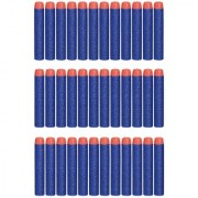 (Pack of 30) Blue Bullet Foam Dart Bullets for Nerf N-Strike Elite Guns