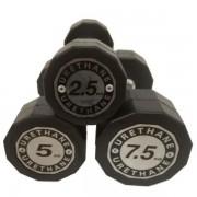 Gantera hexagonala Dayu Fitness DY-DB-197, 2.5kg (Negru)