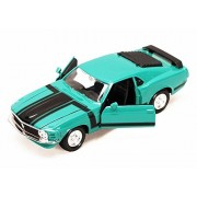 1970 Ford Mustang Boss 302, Green - Maisto Special Edition 31943 - 1/24 Scale Diecast Model Toy Car