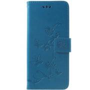Book Case Bloemen Huawei Mate 20 Pro Hoesje - Blauw