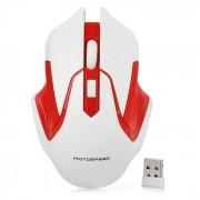 Motospeed G409 2.4GHz raton para juegos - Blanco Rojo