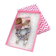 Dolly & Me Matching Charm Bracelet Gift Box Set for Girl and 18 inch Doll (White Flip Flop) by Dolly and ME