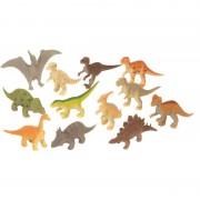 Merkloos Plastic speelgoed dinosaurus dieren speelset 12-delig