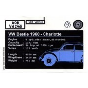 "Lego Original Sticker Sheet for Sculptures Set #10187 ""Volkswagen Beetle (VW Beetle)"""